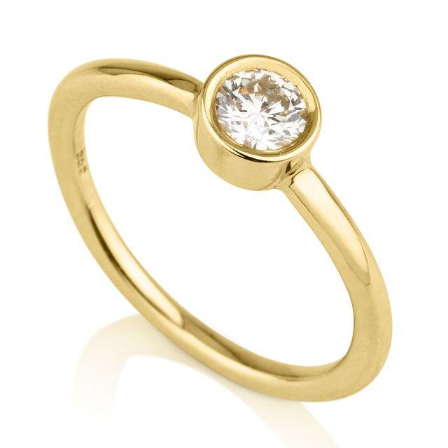 טבעת אירוסין מונדה זהב צהוב