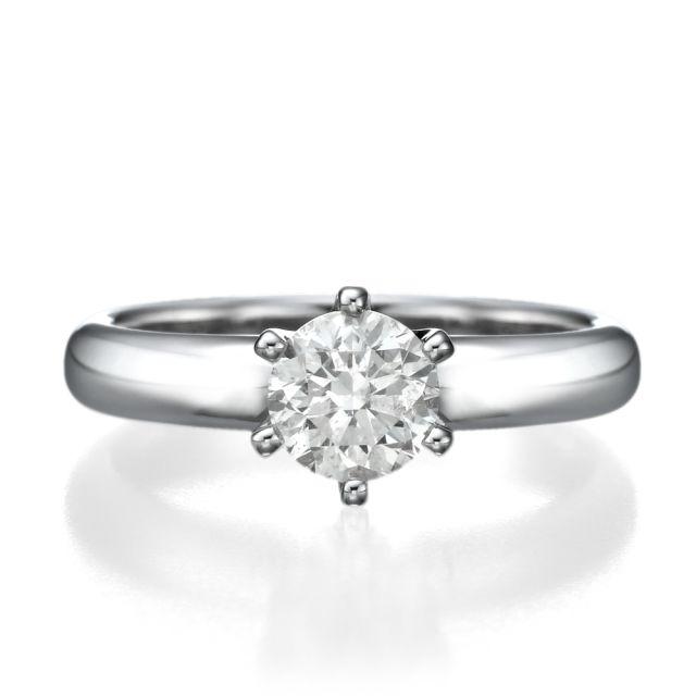 טבעת אירוסין אוליביה זהב לבן