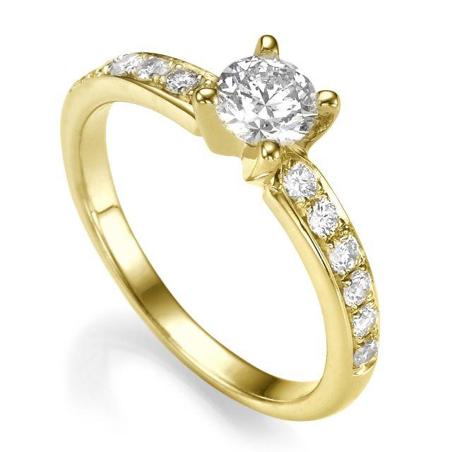 טבעת אירוסין לונה זהב צהוב