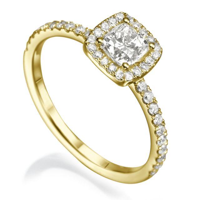 טבעת אירוסין אליס זהב צהוב