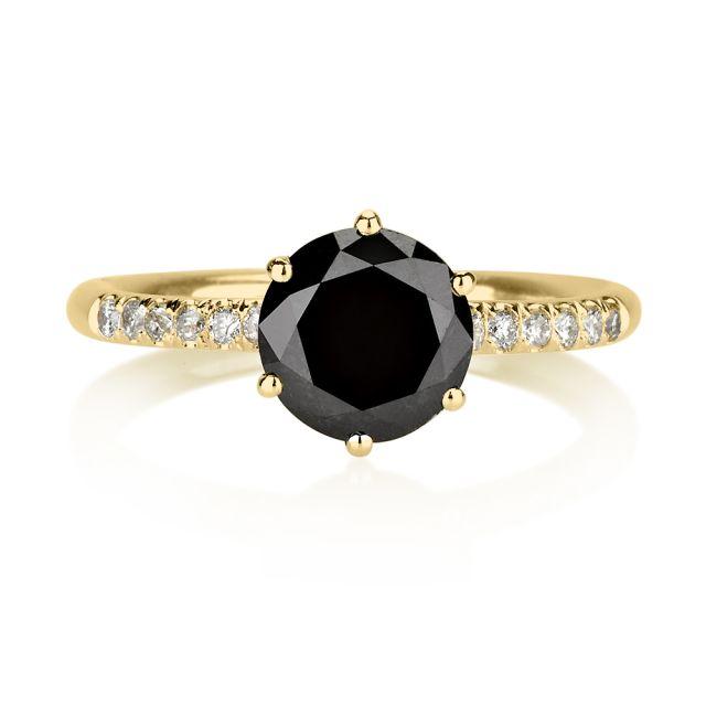 טבעת אירוסין אמה יהלום שחור