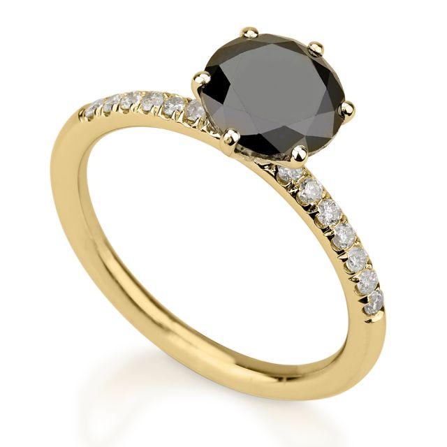 טבעת אירוסין אמה זהב צהוב