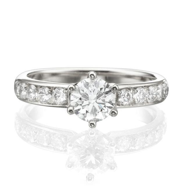 טבעת אירוסין איזבלה זהב לבן
