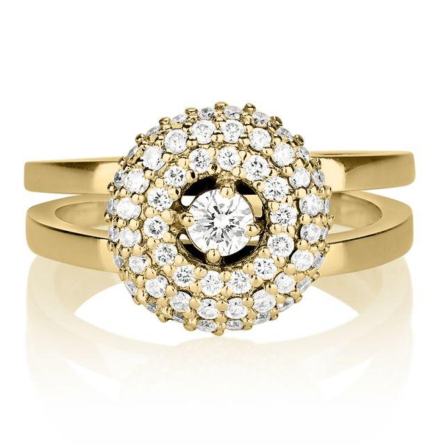 טבעת אירוסין יוקרתית קרן