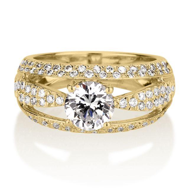 טבעת אירוסין קלאודיה זהב צהוב