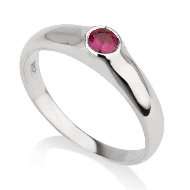 טבעת אירוסין רובי