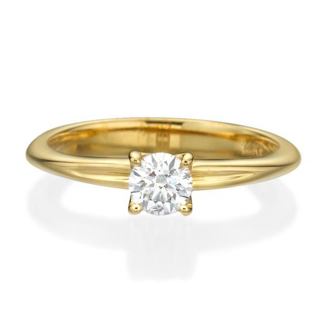 טבעת אירוסין סרינה זהב צהוב
