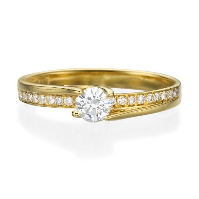 טבעת אירוסין רוז זהב צהוב