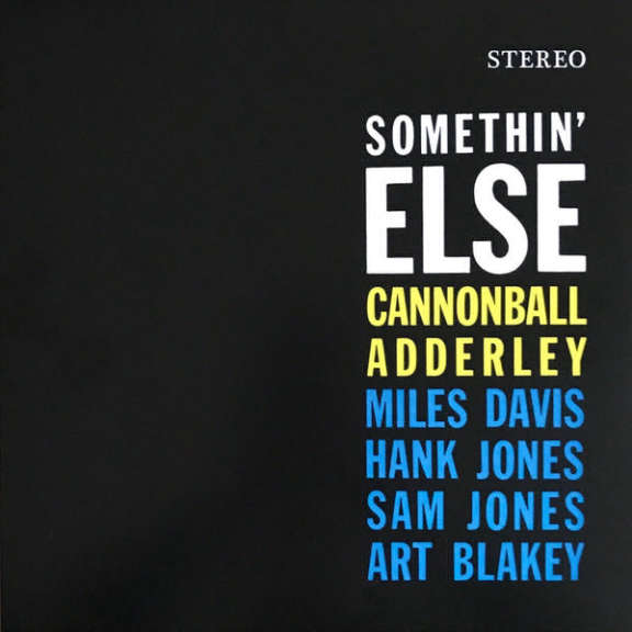 Cannonball Adderley Somethin' Else (Orange Vinyl) LP 2018