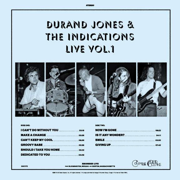 Durand Jones & The Indications Durand Jones & The Indications Live Vol. 1 LP 2018
