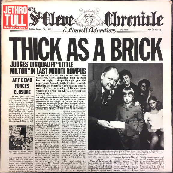 Jethro Tull Thick as a Brick    LP 1972