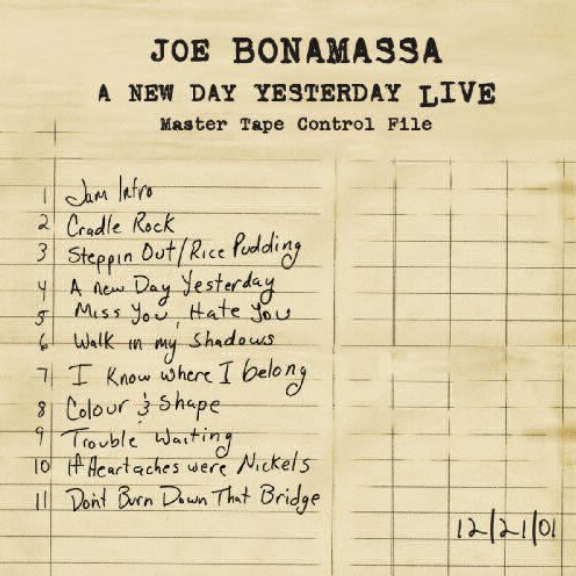 Joe Bonamassa A New Day Yesterday Live LP 2012