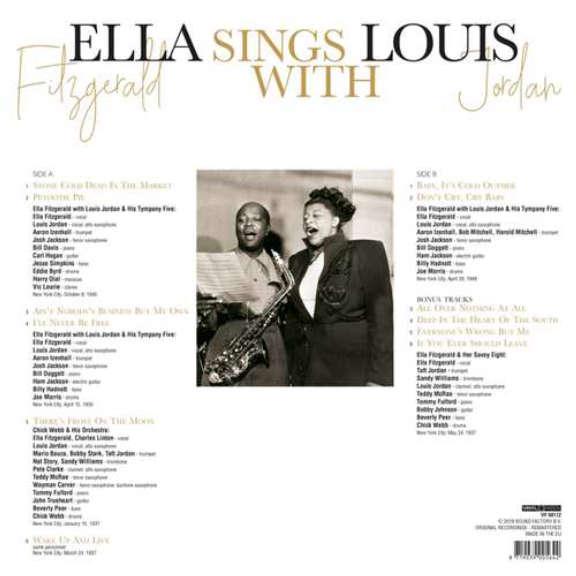Ella Fitzgerald & Louis Jordan Ella Sings With Louis Jordan LP 2019