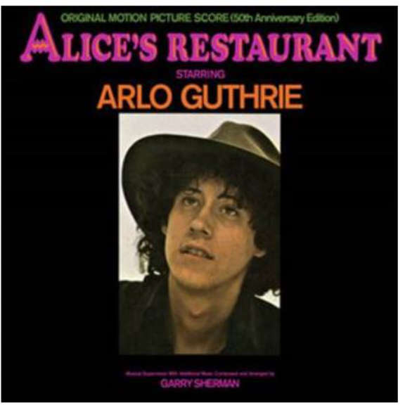 Arlo Guthrie Alice's Restaurant: Original MGM Motion Picture Soundtrack (50th Anniversary Edition) LP 2019