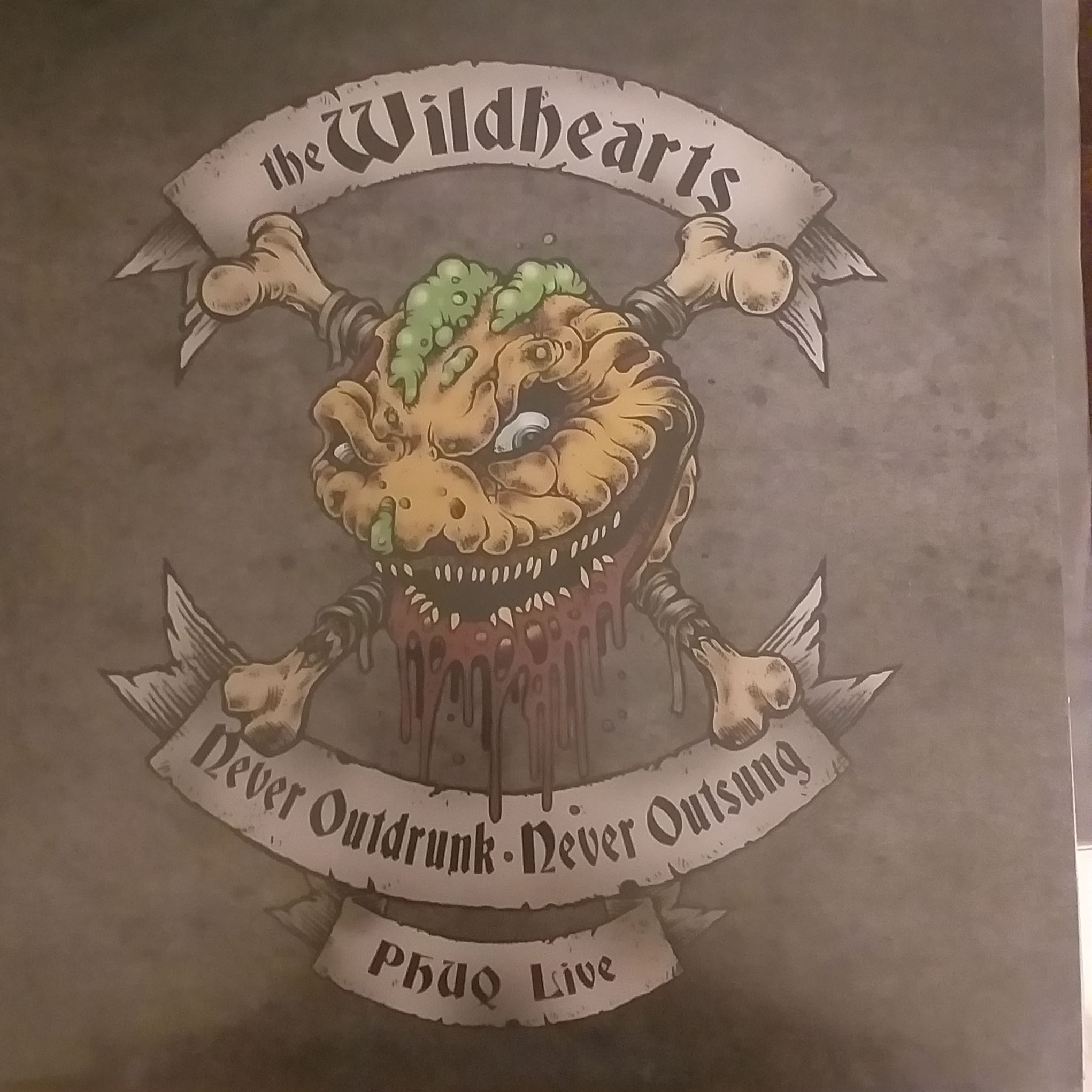 The wildhearts  Never  outdrunk-never outsung,phuq live LP undefined