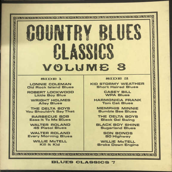 Various Country Blues Classics Volume 3 LP 0