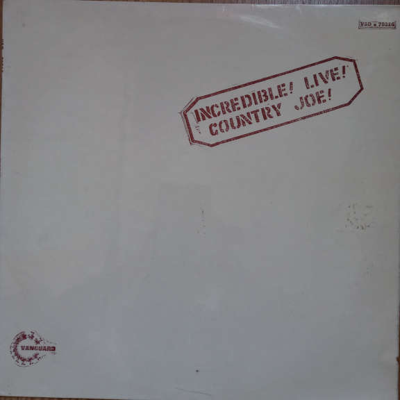 Country Joe McDonald Incredible ! Live ! LP 0