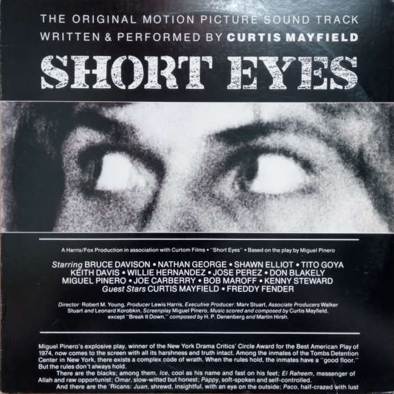 Curtis Mayfield Short Eyes - The Original Picture Soundtrack LP 0