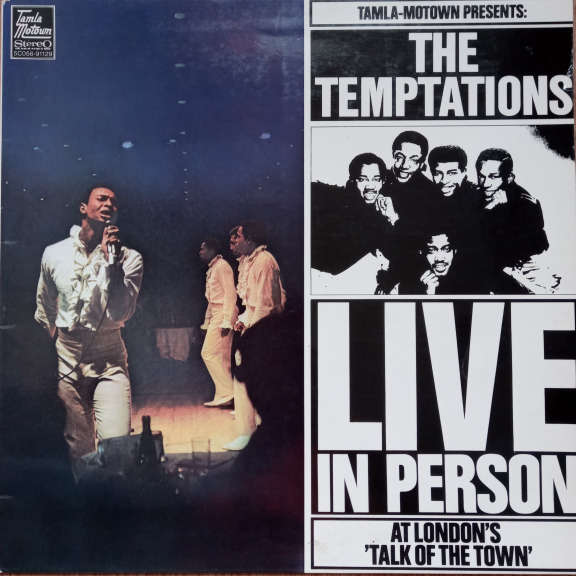 The Temptations Live In Person At London's Talk Of Town LP 0
