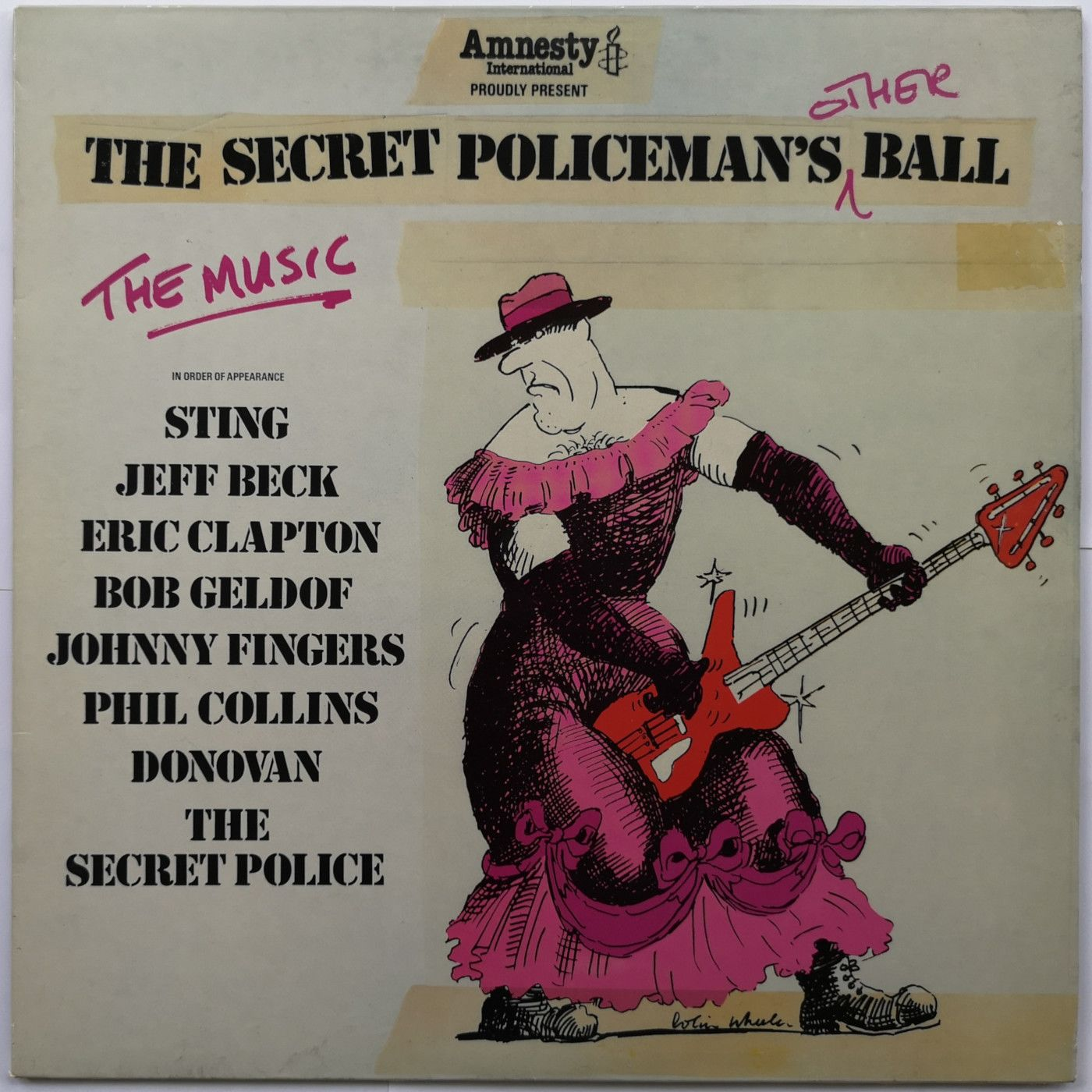 Various ( Sting, Eric Clapton, Jeff Beck, Bob Geldof, Johnny Fingers, Phil Collins, Donovan ) The Secret Policeman's Other Ball (The Music) LP undefined