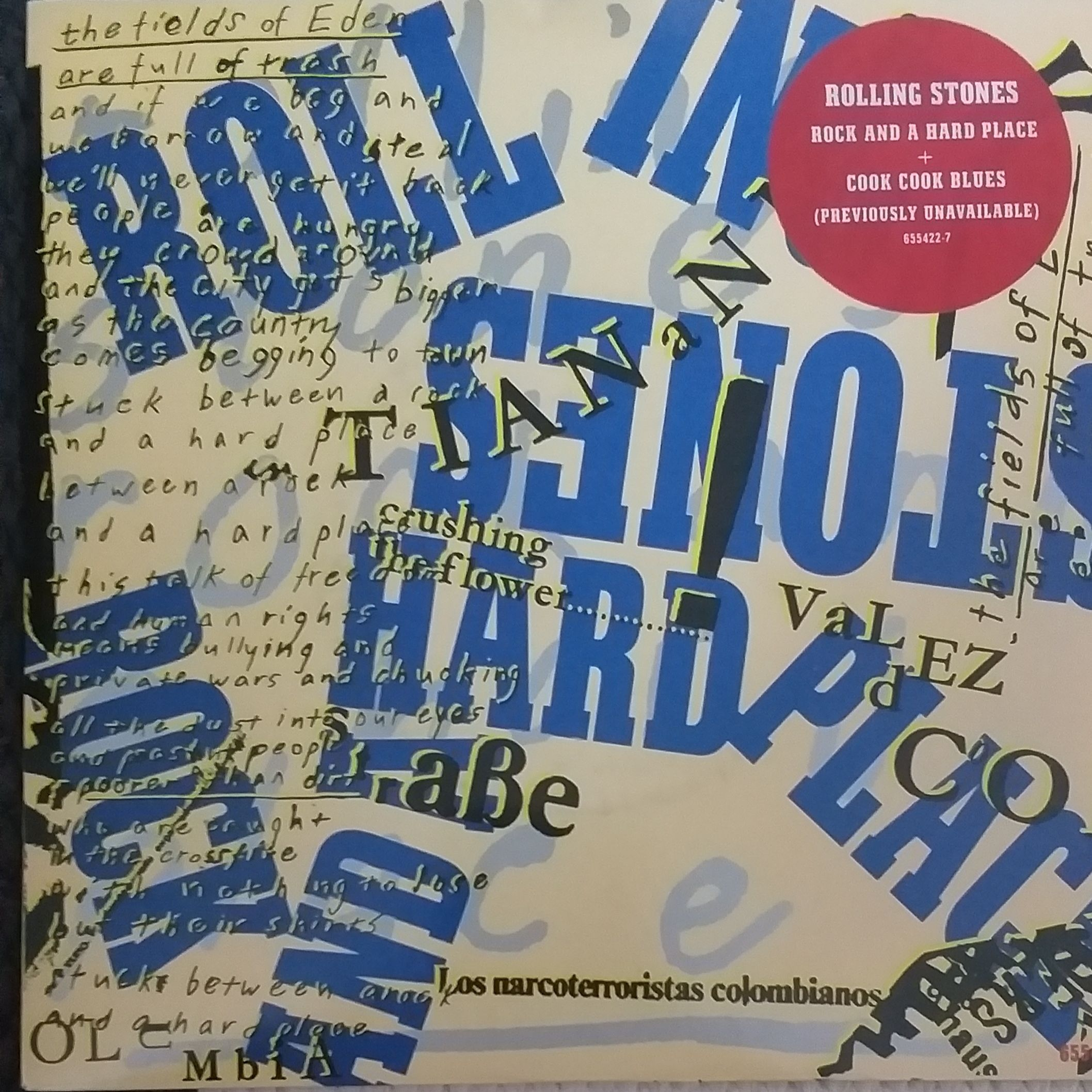 The Rolling Stones Rock and a hard place LP undefined