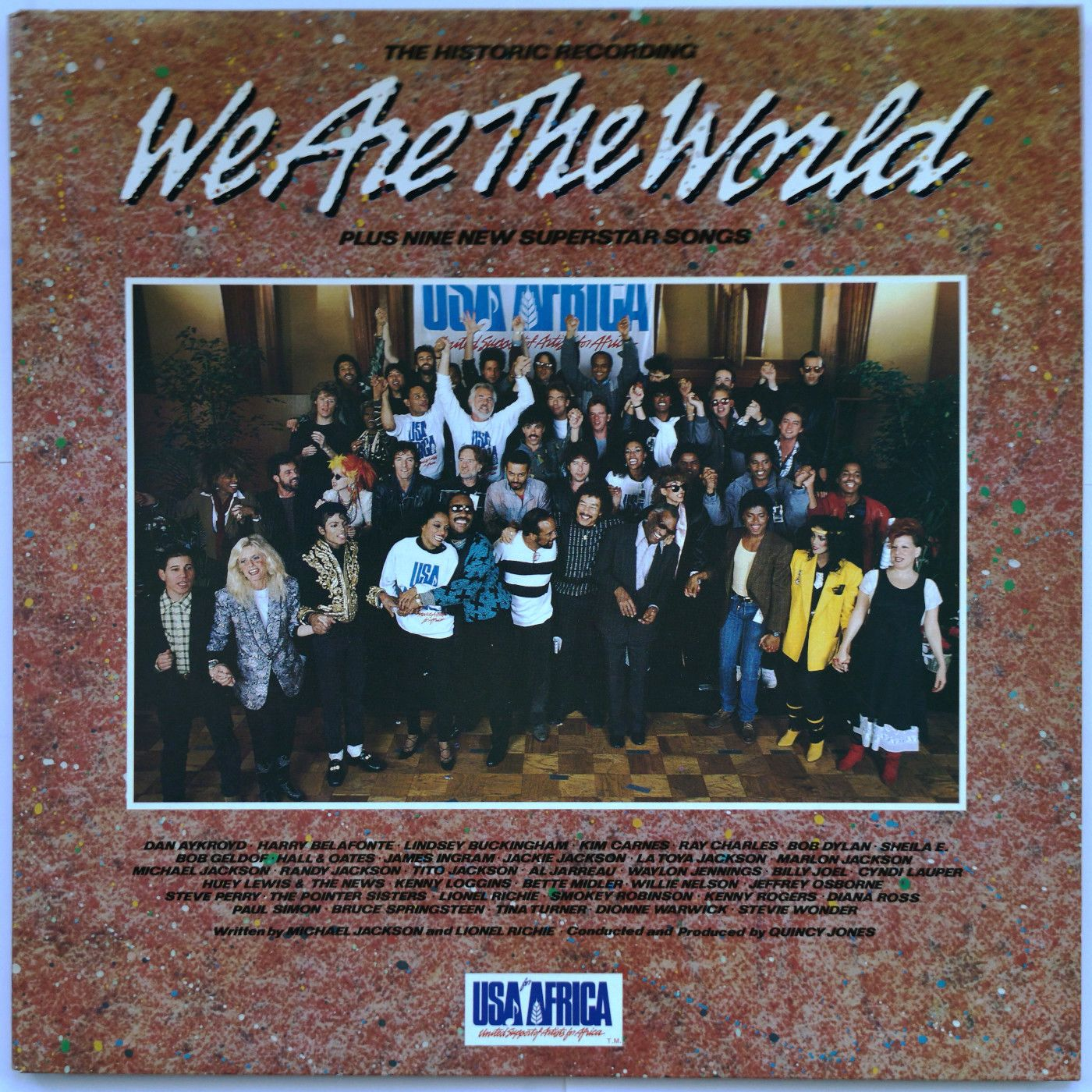 Various; Chicago, Huey Lewis & The News, Steve Perry, The Pointer SIsters, Bruce Springsteen, Prince And The Revolution, Tina Turner, Kenny Rogers, Billy Joel, Bob Dylan, Michael Jackson, Paul Simon, Ray Charles.... We Are The World LP undefined