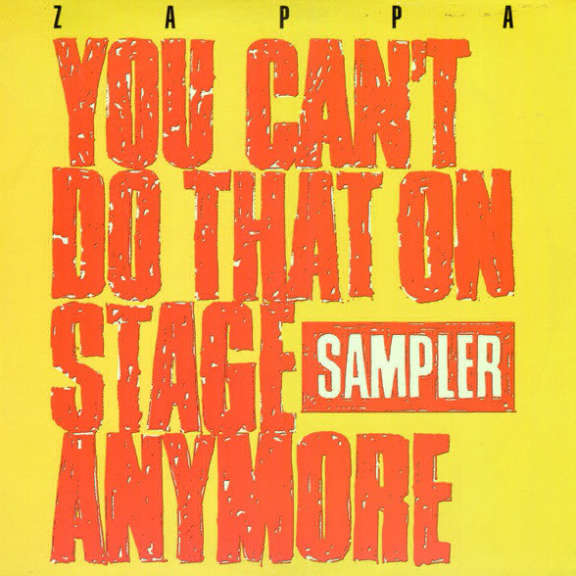 Frank Zappa You Can't Do That On Stage Anymore (Sampler) RSD 2020 LP 2020