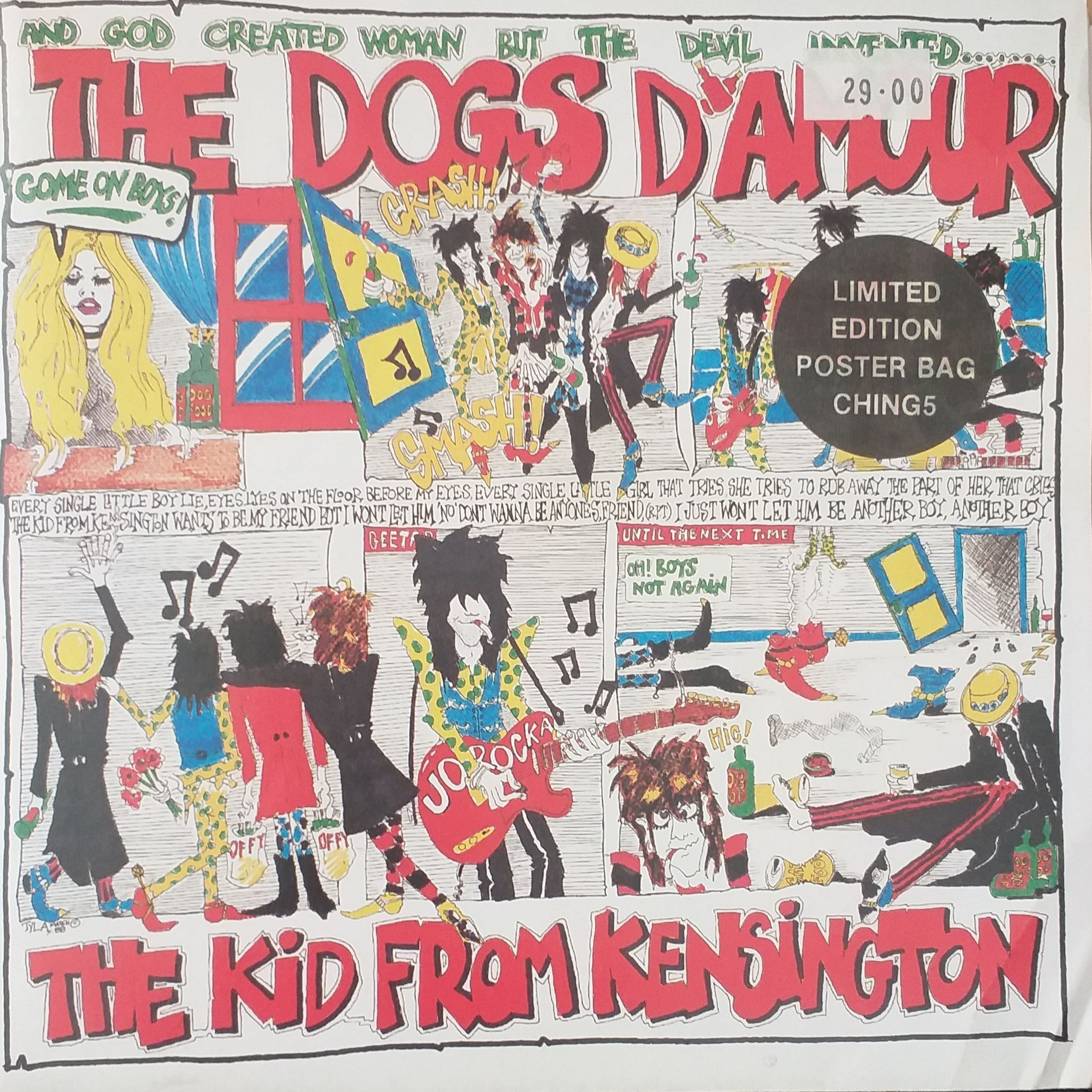 The Dogs d' Amour The kid from Kensington LP undefined