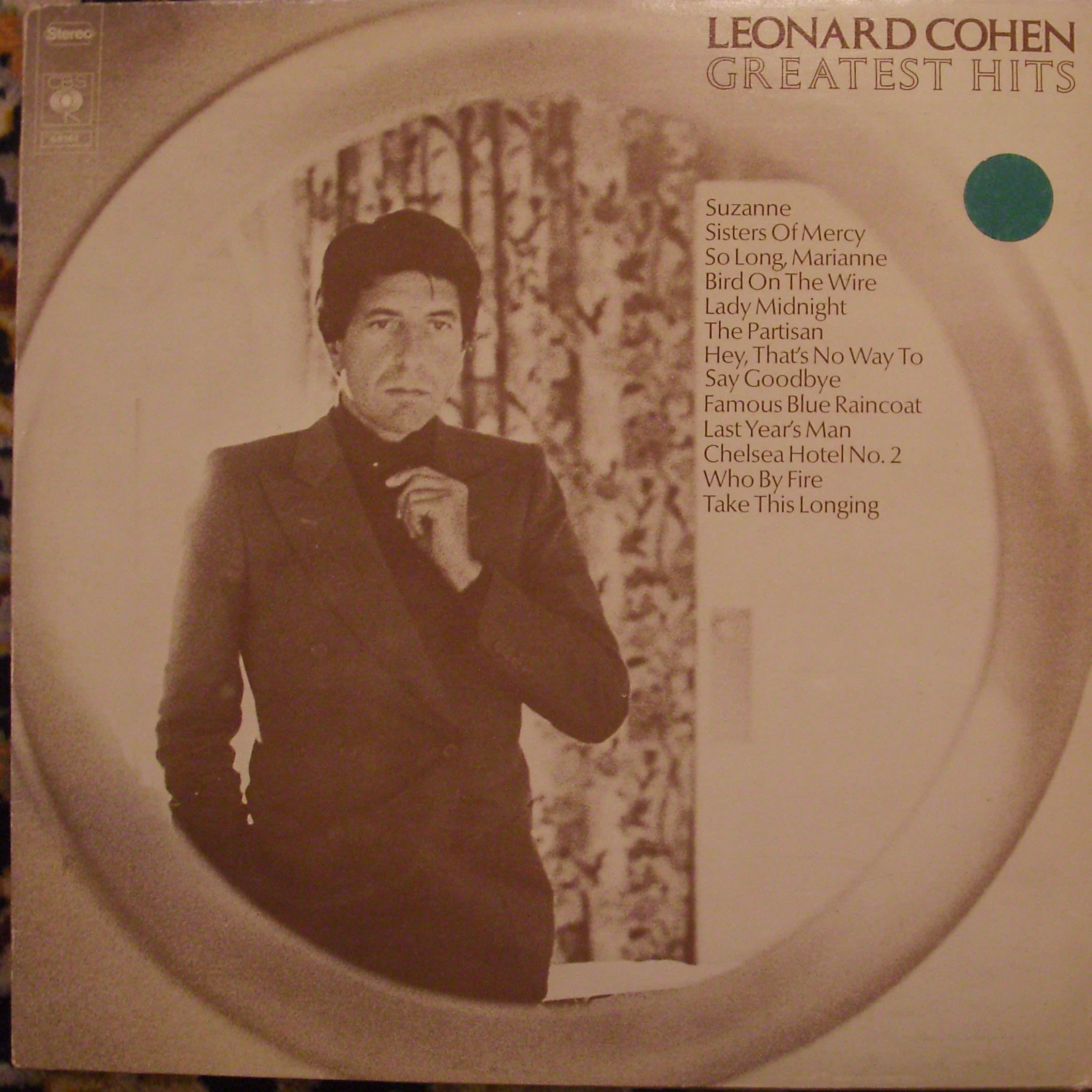 Leonard Cohen Greatest Hits LP undefined