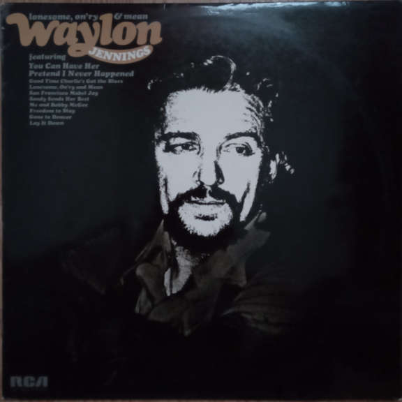 Waylon Jennings Lonesome, On'ry & Mean LP 0