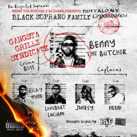 Benny The Butcher x DJ Drama Black Soprano Family (coloured) LP 2021