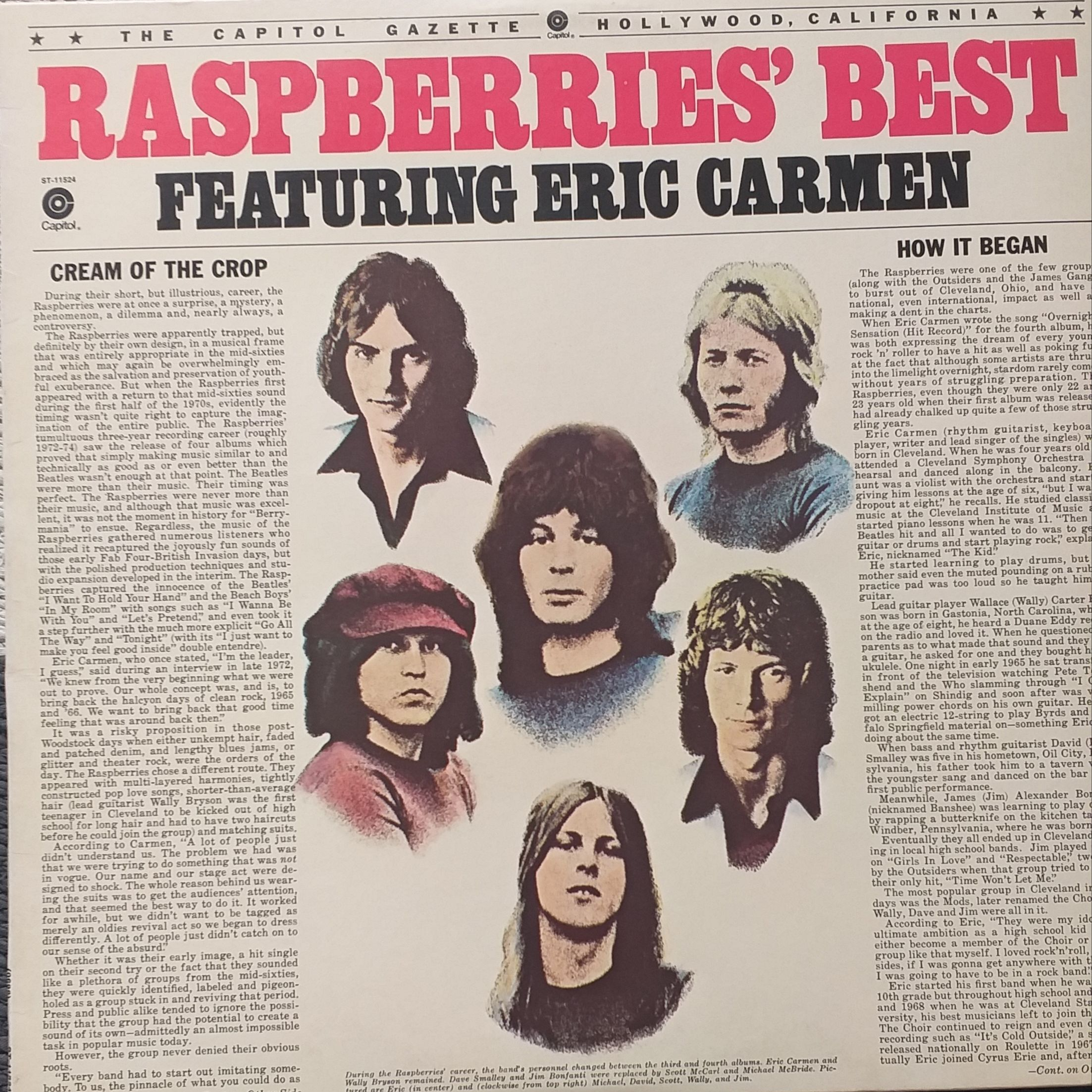 The Raspberries Best featuring Eric Carmen LP undefined