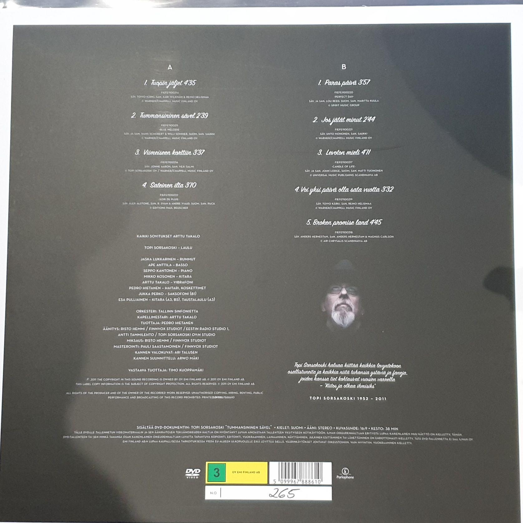 Topi Sorsakoski Tummansininen Sävel LP undefined