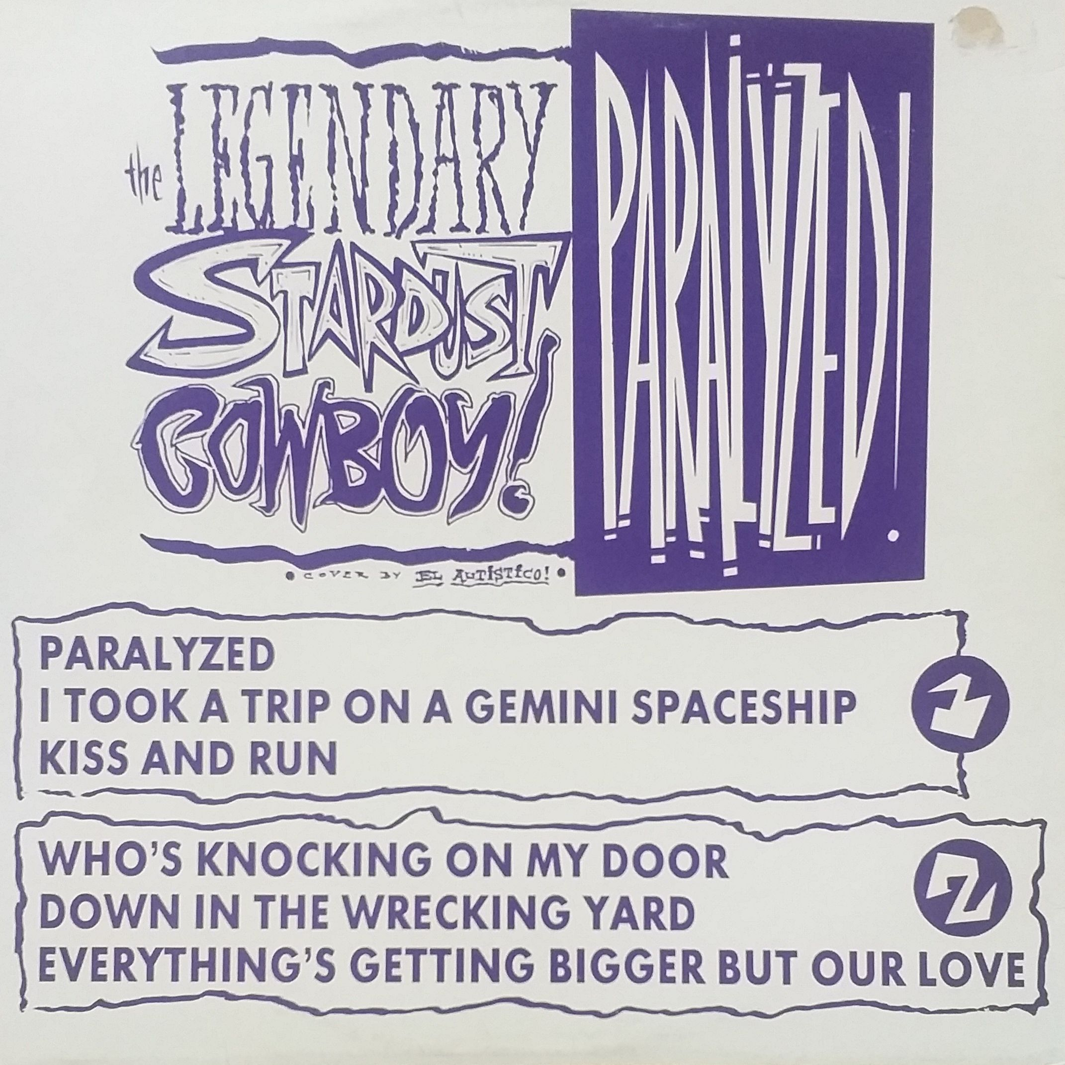 The Legendary stardust cowboy Paralyzed! LP undefined