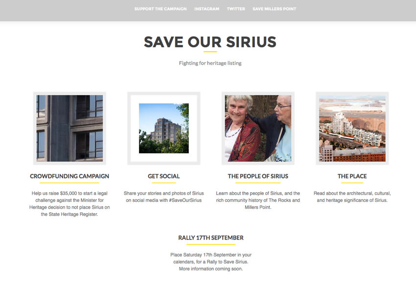 Sirius website