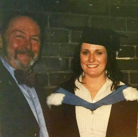 Dr Elaine Emmerson and her father