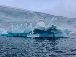 Iceberg with strange pointy crests