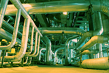 photo of industrial internal exhaust piping system