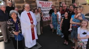"""May"" and other members of her congregation at St Brigid's"