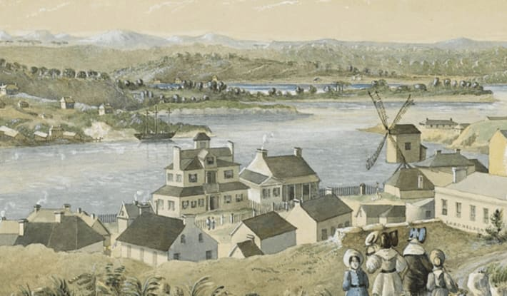 1840s watercolour of Millers Point