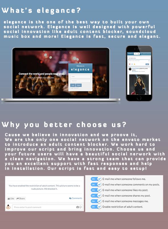 Elegance   The Elegant PHP Social Network System - 1