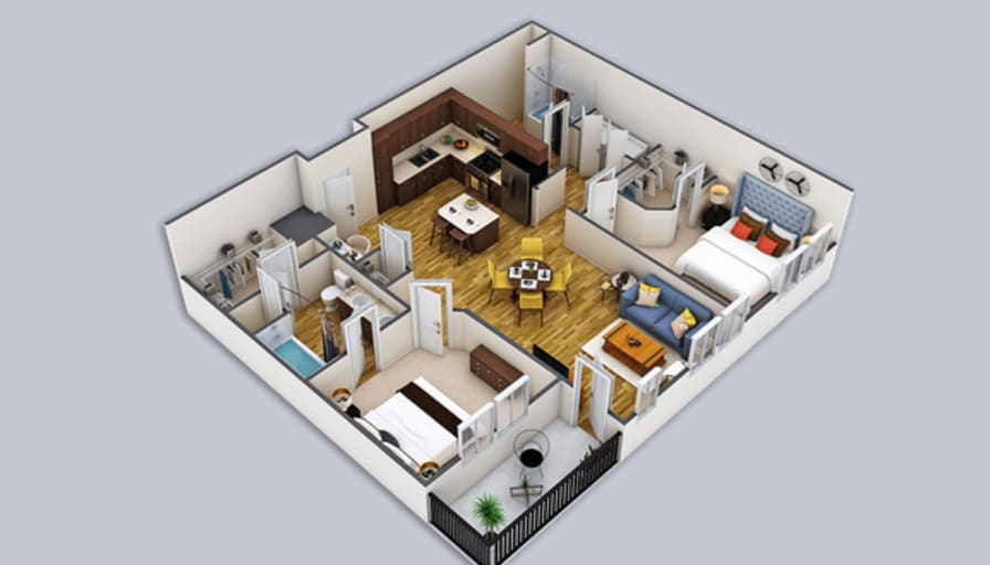 Photo of Scott's room
