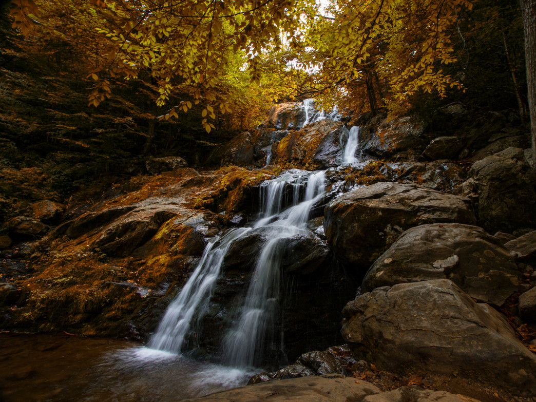 Shenandoah waterfall.