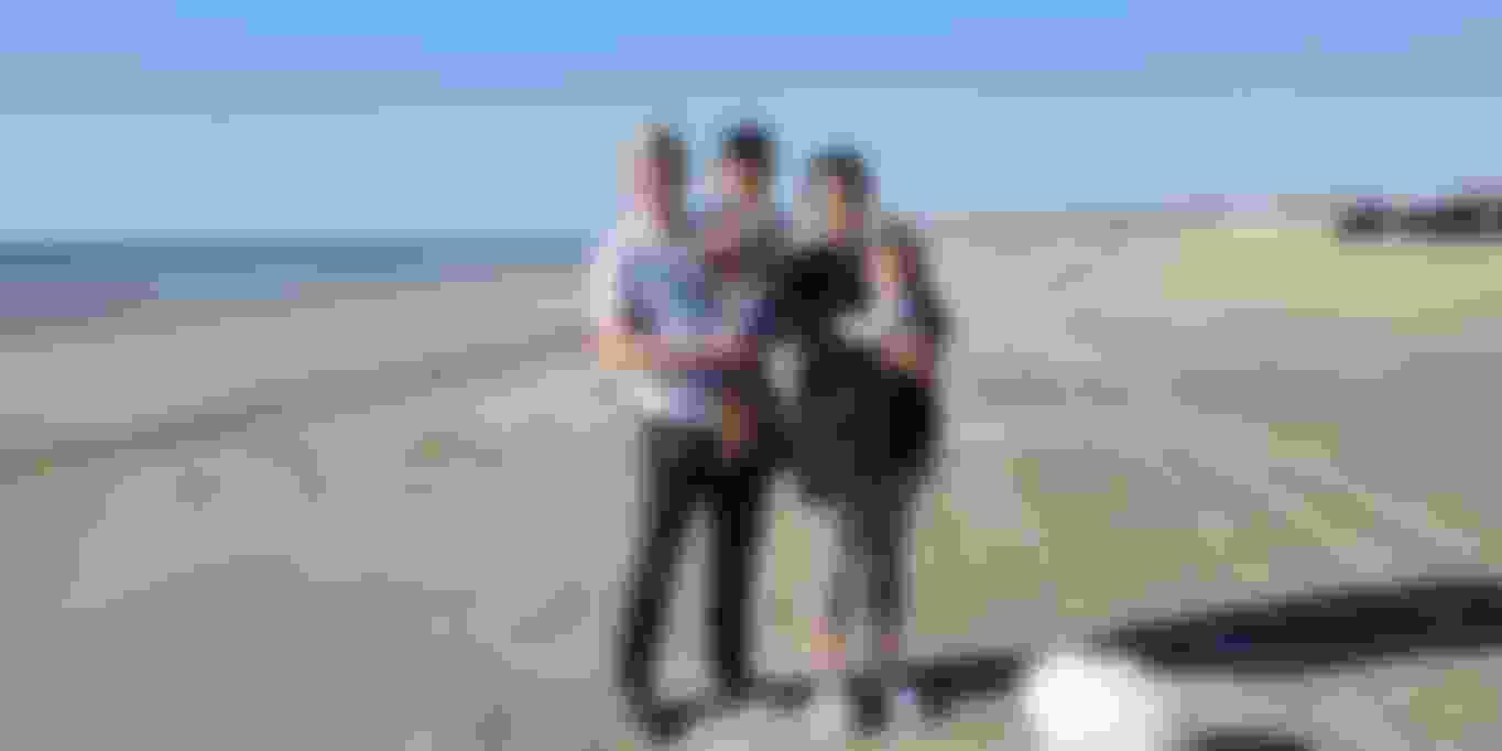 Charles Jenkins family beach photo