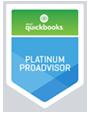 Logo for QuickBooks Platinum ProAdvisor