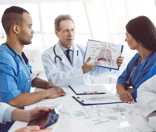 Healthcare Professionals with clipboard