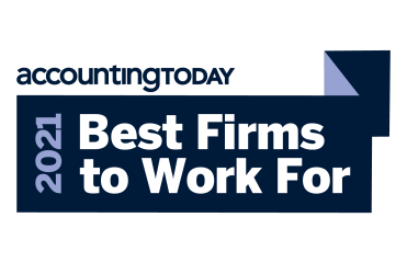 accountingToday 2021 Best Firms to Work For award