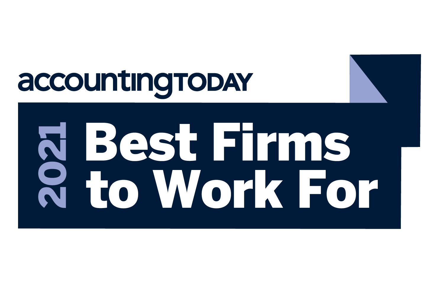AccountingToday 2021 Best Firms to Work for award.