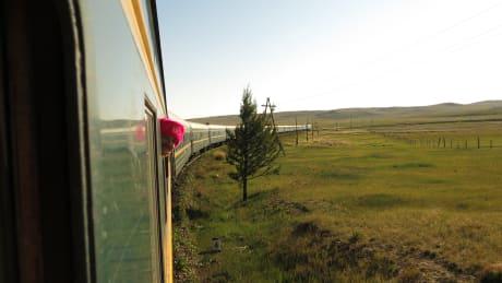 Transsibiriska järnvägen till Kina