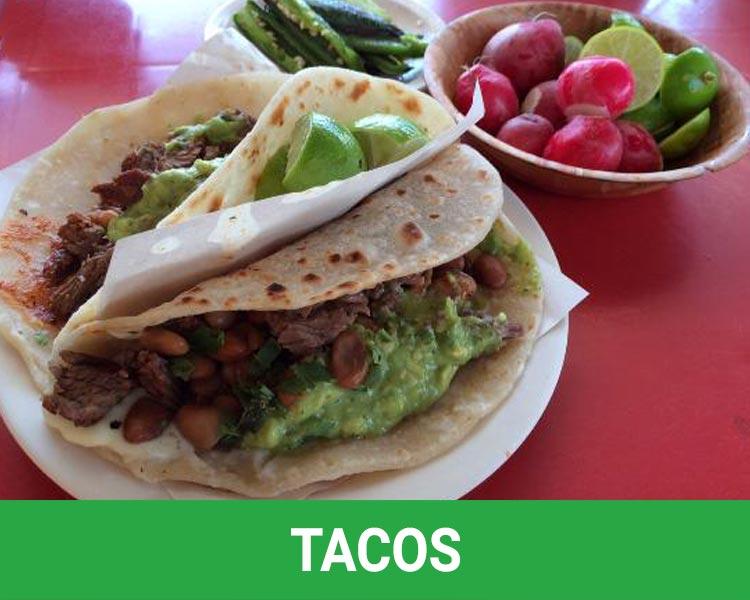 Tacos in Rosarito Beac